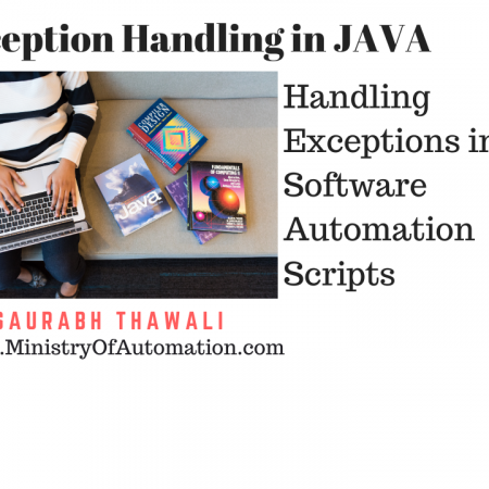 Exception Handling in Software Automation using JAVA